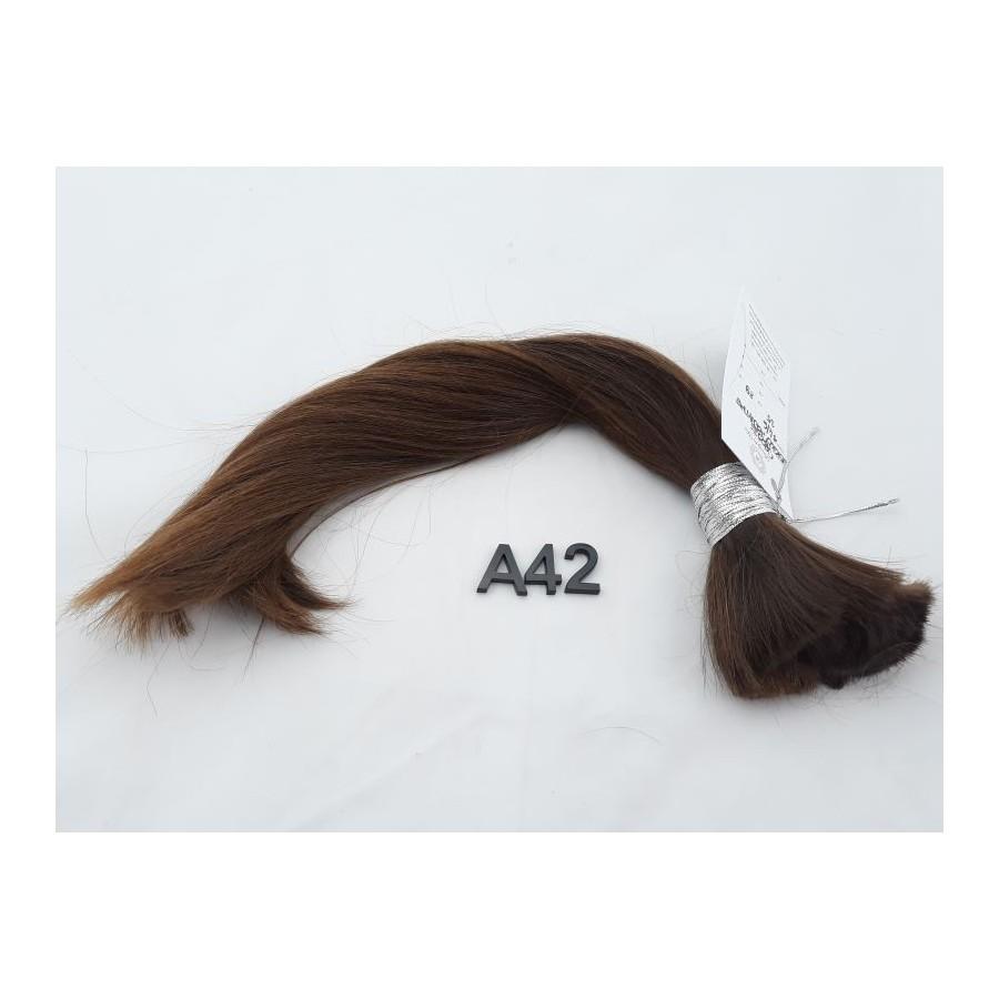 Włosy dziewicze średni jasny brąz dł. 35 cm, 89 gram