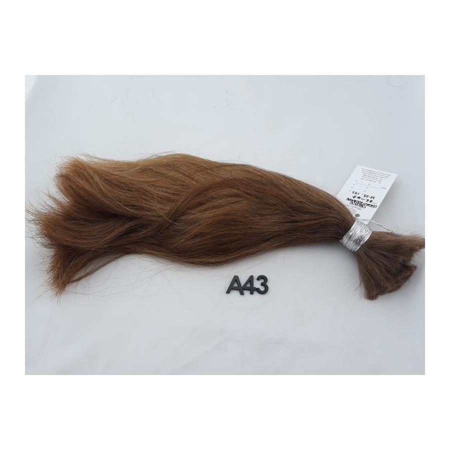 Włosy dziewicze złocisty jasny brąz dł. 39 cm, 193 gram
