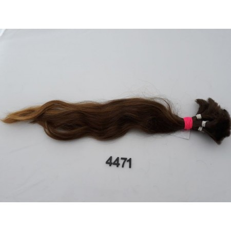 Włosy dziewicze średni jasny brąz dł. 50 cm, 102 gram