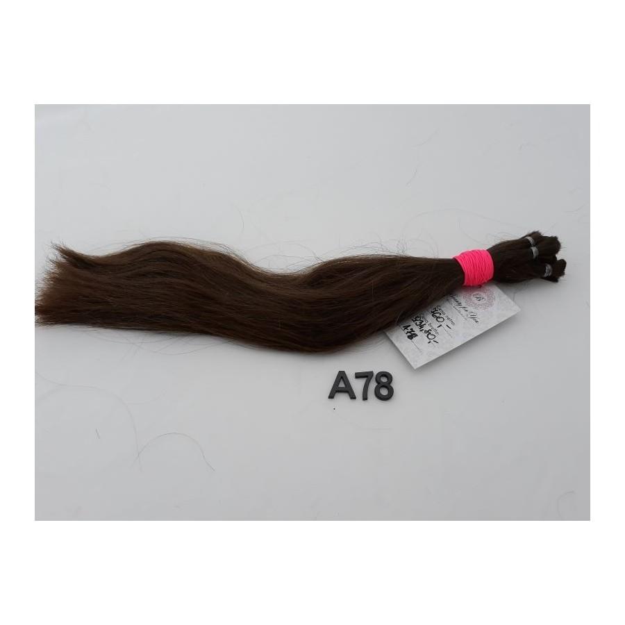 Włosy dziewicze średni brąz dł. 38 cm, 84 gram