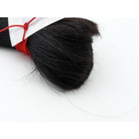 Włosy dziewicze czarny dł. 33 cm, 104 gram