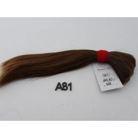 Włosy dziewicze jasny brąz dł. 34 cm, 116 gram