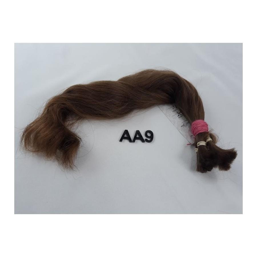 Włosy dziewicze złocisty jasny brąz dł. 42 cm, 70 gram