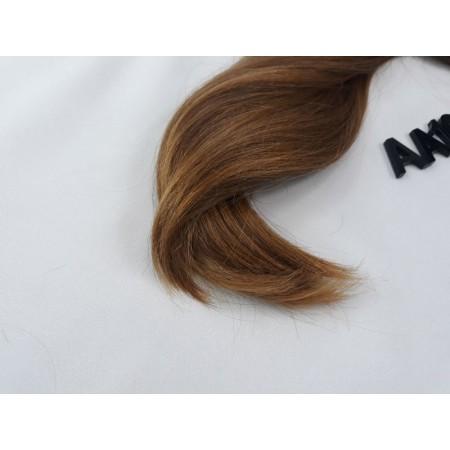 Włosy dziewicze złocisty jasny brąz dł. 37 cm, 86 gram