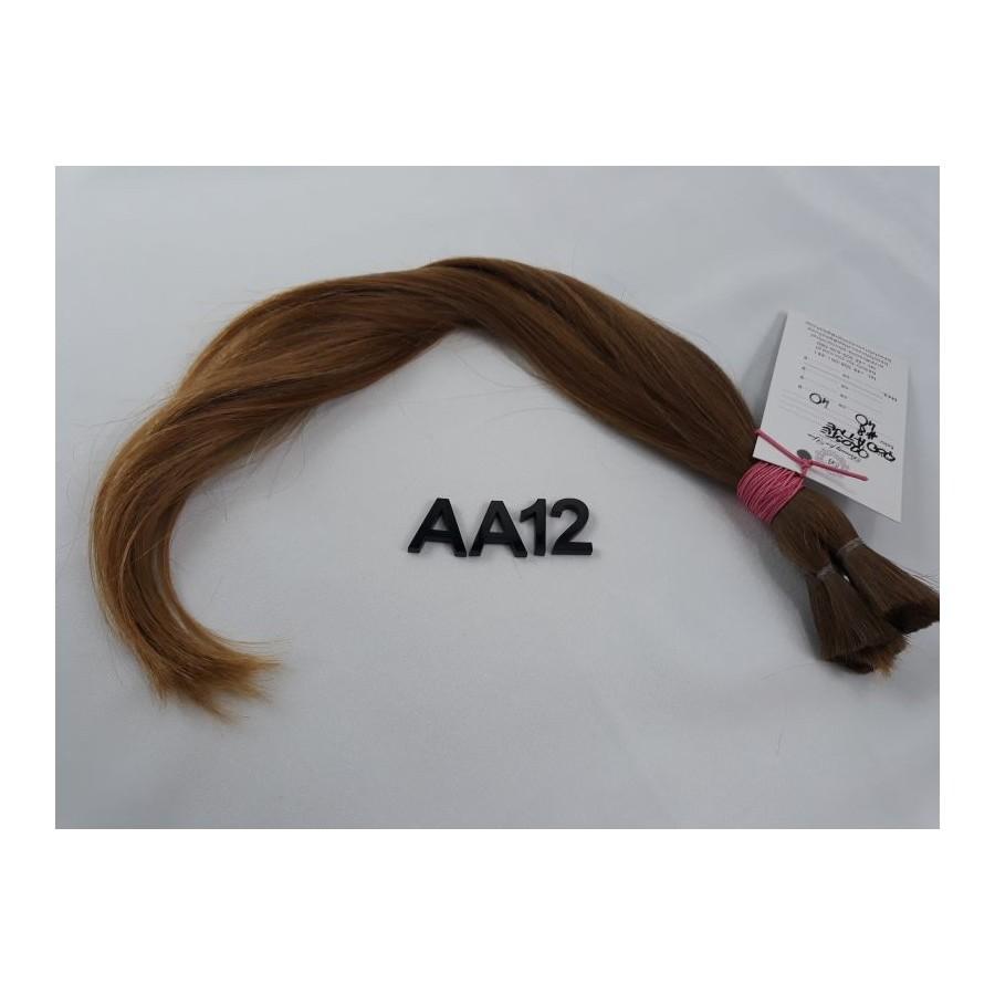 Włosy dziewicze złocisty jasny brąz dł. 40 cm, 40 gram