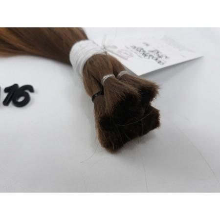 Włosy dziewicze jasny brąz dł. 32 cm, 71 gram