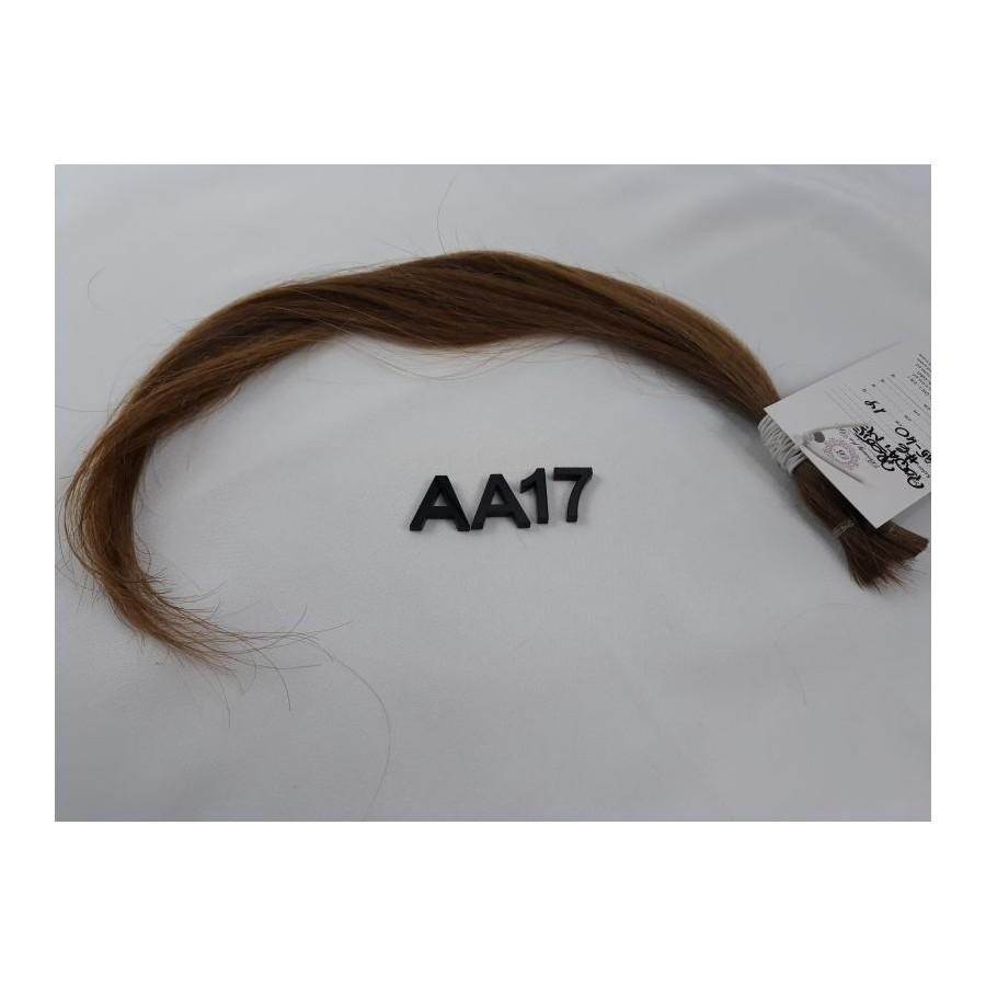 Włosy dziewicze jasny brąz dł. 40 cm, 19 gram