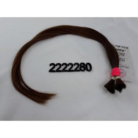 Włosy dziewicze średni brąz dł. 48 cm, 22 gram