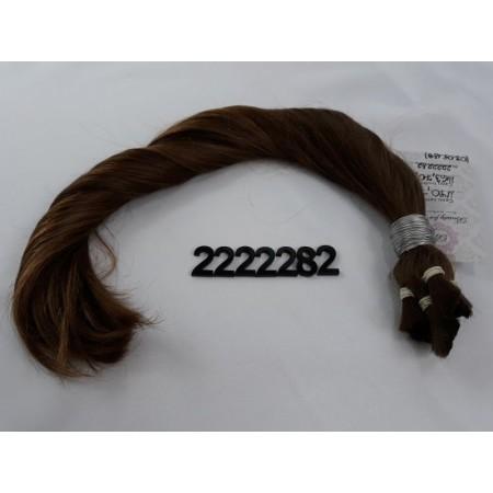 Włosy dziewicze jasny brąz dł. 46 cm, 99gram