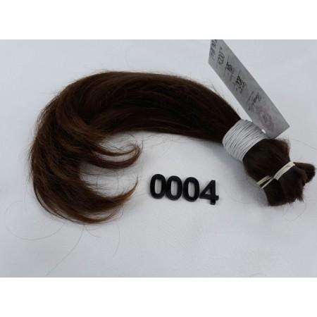 Włosy dziewicze średni jasny brąz dł. 30 cm, 100 gram