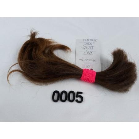 Włosy dziewicze jasny brąz dł. 24 cm, 44 gram