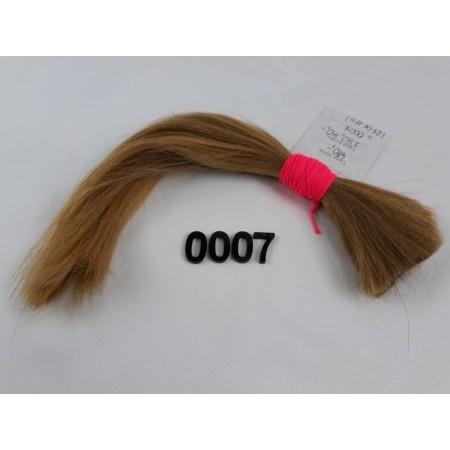 Włosy dziewicze miodowy blond dł. 30 cm, 48 gram