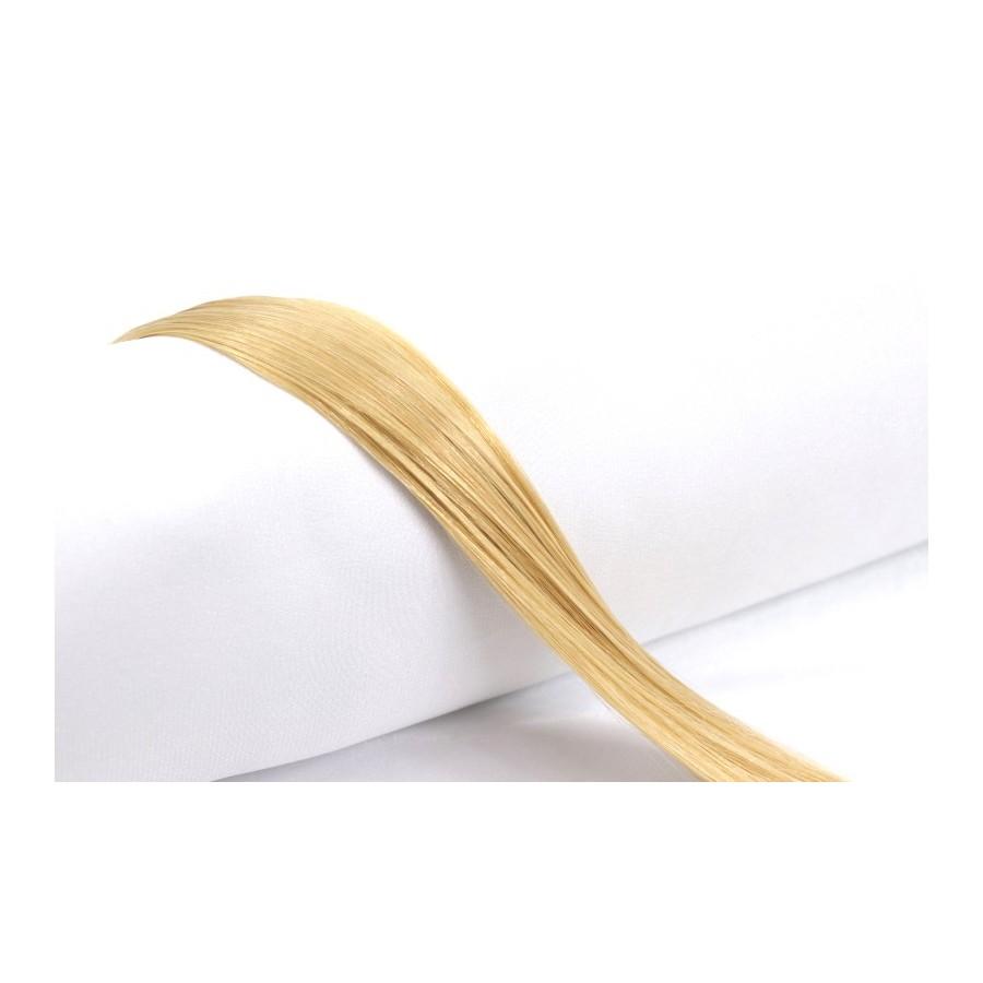 Złoty jasny blond kolor nr 22, 51 cm, końcówka V