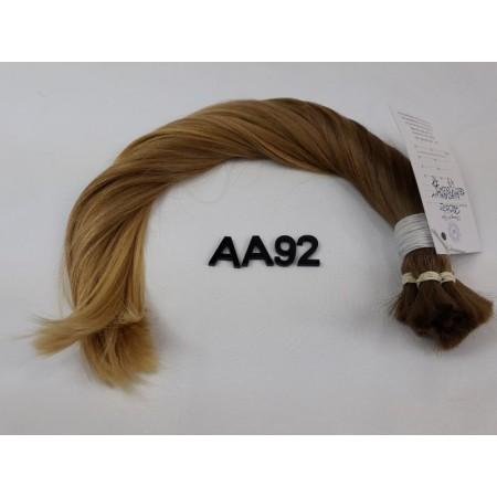 Włosy dziewicze naturalny złoty blond dł. 43 cm, 78 gram