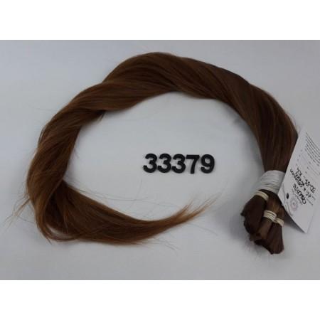 Włosy dziewicze jasny brąz dł. 56 cm, 104 gram