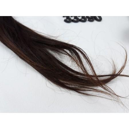Włosy dziewicze czekoladowy brąz dł. 60 cm, 92 gram