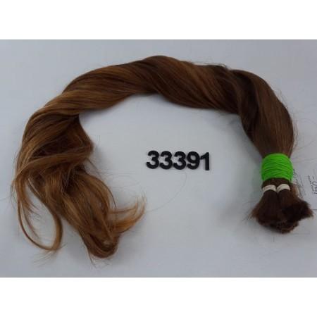 Włosy dziewicze złocisty rudy dł. 56 cm, 102 gram