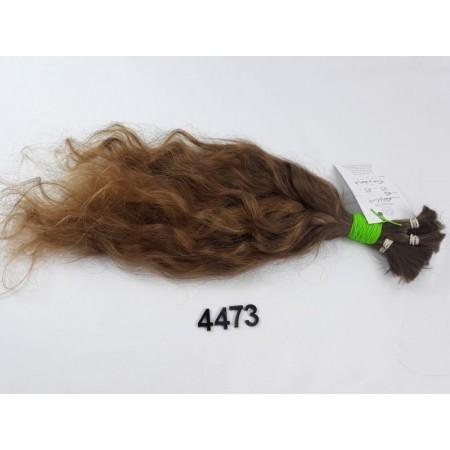 Włosy dziewicze jasny brąz dł. 43 cm, 83 gram