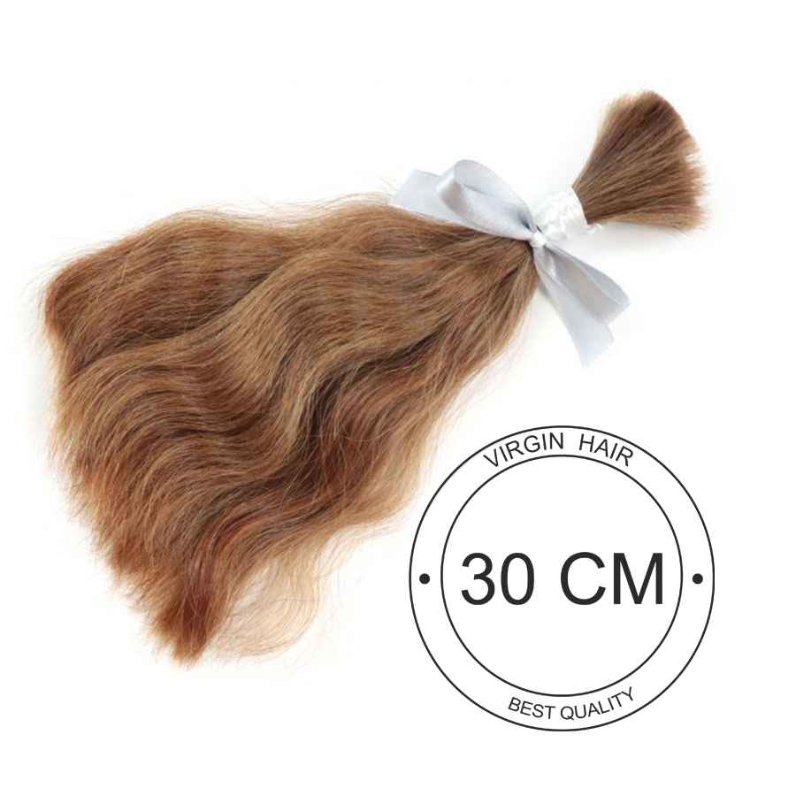 Virgin hair to 30 cm