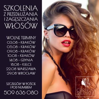 WOLNE TERMINY na szkolenia z przedłużania i zagęszczania włosów pod patronatem Beauty-for-You 💎 Jesteśmy dla Was: -> Kraków -> Kielce  -> Wrocław -> Warszawa -> Gdynia Aż 18 metod w tym MIKRO BONDS, TAPE ON, ULTRADŹWIĘKI, LASER EXTEND i inne. Sprawdź pełną listę na naszej stronie: https://przedluzanie-wlosow.info/pl/content/9-szkolenia-z-przedluzania-wlosow?fbclid=IwAR3qBJI6eN0C9eYFhhdvNdzyYhlQLmHgsYSgYUcEOnt65pnwpN5Xzv0cMRg lub zadzwoń do nas: 509 636 080 Odpowiemy na Twoje pytania i doradzimy!  #szkolenie #szkoleniefryzjerskie #przedluzaniewlosow #hurtowniawłosów #beautyforyou #włosy #beauty #szkoleniakrakow #szkoleniawroclaw #szkoleniakielce #szkoleniagdynia