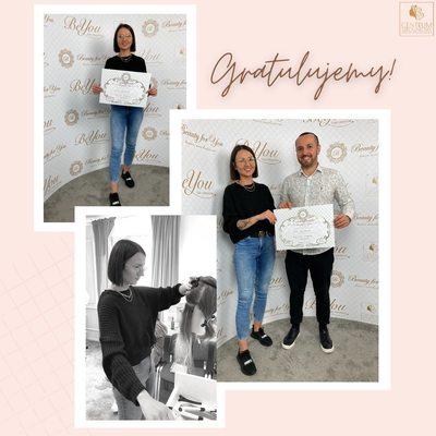 Pani Joanna szkoliła się u nas z przedłużania włosów metodą keratynową mini-bonds.  Gratulujemy uzyskania certyfikatu i życzymy wielu zadowolonych klientów!   #szkoleniazprzedłużaniawłosów #szkolenia #keratyna #centrumszkoleniowebeautyforyou  @nanohairlab