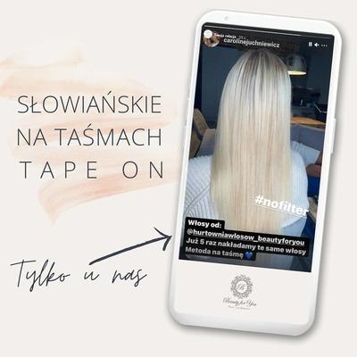Włosy słowiańskie na taśmach tape on możesz zakładać wielokrotnie!   Podczas korekty nie musisz obcinać 'starych łączeń' jak w przypadku wielu innych metod, a więc długość włosów nie zmienia się. Ich jakość i prawidłowa pielęgnacja pozwalają naszym Klientkom cieszyć się długimi, gęstymi włosami przez wiele miesięcy💎💎  Zobacz jak samodzielnie wykonać rebonding taśm ➡ https://przedluzanie-wlosow.info/pl/blog/post/6/jak-samodzielnie-wykonac-rebonding-tasm-szkolenie  #tapeon #dlugiewlosy #beautyforyou #przedluzaniewlosow #jakość #wlosydoprzedluzania #słowiańskie